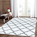 """A2Z RUG Trellis Rugs White 60x230 cm - 2'x7'5"""" ft Trendy Collection without borders Area Rug"""