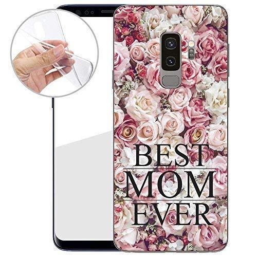 Finoo TPU Handyhülle für Dein Samsung Galaxy S9 Plus Made In Germany Hülle mit Motiv für Optimalen Schutz Silikon Tasche Case Cover Schutzhülle für Dein Samsung Galaxy S9 Plus-Best mom ever