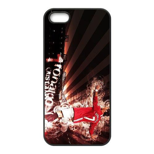 Cristiano Ronaldo coque iPhone 5 5S Housse téléphone Noir de couverture de cas coque EBDXJKNBO16181