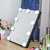weiwei Tragbare LED licht Spiegel Desktop Falten Tischlampe Dimmbar Haus badezimmerspiegel-B