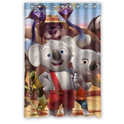 Blinky Bill Cute Animals Elephants Custom Unique Waterproof Shower Curtain Bathroom Curtains 48x72 inches