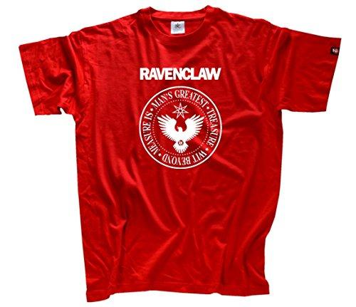 Shirtzshop Herren Ravenclaw T-Shirt Rot, XXXL