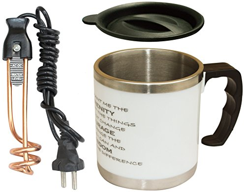 VintageWorld's Mini Creative Copper UltraFast Water Heater 700 Watts Immersion Rod With Free Exclusive Serenity Prayer Coffee Mug ( With FREE SHIPPING & Updated GST Rates )