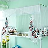Bestickte moskitonetze,Wohnheim gaze prinzessin betthimmel print schlafzimmer einzigen reißverschluss netting-vorhänge-D Twinch1