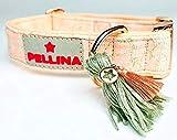 Pellina Hundehalsband Apricot Dream (S (20-30cm), Silber)