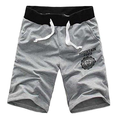 Bonboho Herren Plain Kordelzug Baggy Gym Sweat Jogging Shorts Atmungsaktiv Sweat Hosen porthose Jogging Baggy Jogginghose Slim Trainingshose