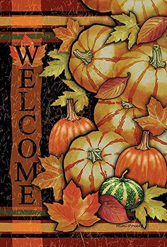 Zucche burattate 30 x 45 cm decorativo fall harvest harvest welcome house flag