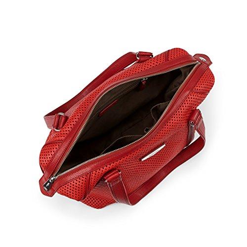 Kipling , Borsa Messenger  Unisex, Schwarz (Hot Black Perfo) (Nero) - K14850 Rot (Hot Red Perfo)