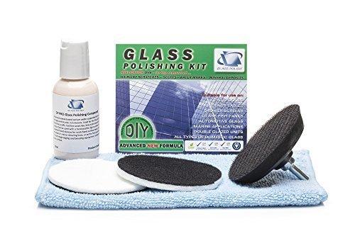Glas Polieren Kit-DIY Reparatur-entfernt Schrammen, Oberfläche Marken, Kalk und Mineraldepot (7,6cm, 75mm Komponenten)