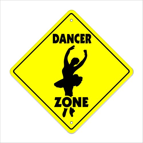 SignMission Tänzerin Crossing Sign Zone Xing |-| 30,5 cm Hoch Dancing Dance Schuhe Pole Stripper -