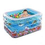 NUOAO Baby Pool Rectangular Bad und Planschbecken Badewanne Baby Tub, 110*90*70CM