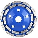 FIXKIT Diamantschleifscheibe Diamantschleiftopf doppelreihig und universal für Beton, Mauerwerk, Marmor, Granit 125*22.23mm blau (125mmφ)