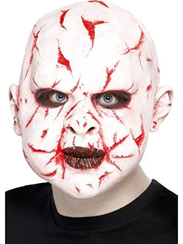 hör Überkopf Maske Narbengesicht Monster Halloween ()