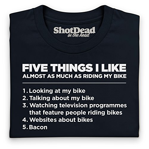 Five Things I Like - Bike T-Shirt, Herren Schwarz