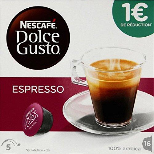 Dolce Gusto - Dosettes de café moulu pur arabica, Espresso - Les 16 dosettes, 96g - Prix Unitaire - Livraison Gratuit Sous 3 Jours