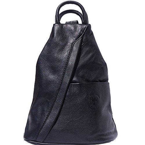 Bolso mochila y bolsa de hombro 2061 (Negro)
