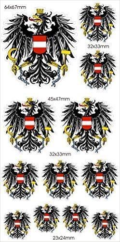 Wappen SET Österreich Adler Aufkleber -