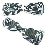 Alles Körper Schutz Schutzhülle aus Silikon für 6.5 Inch Wheels swegway Scooter (Gray/Black)