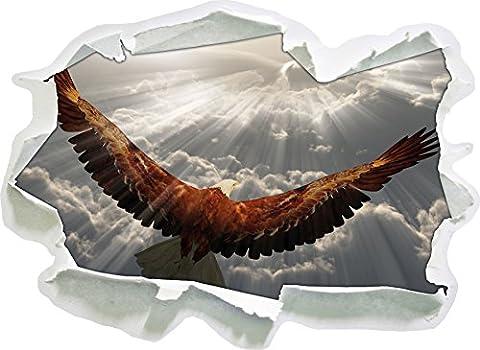 Adler über den Wolken , Papier 3D-Wandsticker Format: 92x67 cm Wanddekoration 3D-Wandaufkleber Wandtattoo