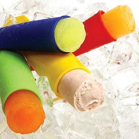 Saxon® - 4 piezas de silicona de hielo Pop Creador Conjunto, Hielo Pop Moldes FDA Aprobado y BPA. Hacer Fruit Ice Pops & Smoothie Pops. Usted puede crear su regalo perfecto para toda la familia. NO STICK y flexible, además de Limpian muy fácil. Perfecto veneno partido en