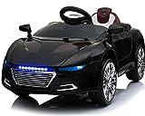 Toyas Kinder Elektro Auto Sportwagen Cabrio Kinderfahrzeug mit Fernbedienung MP3 LED schwarz