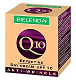 Bielenda Effective Q 10 Anti-Wrinkle Day Cream SPF 10 Against Photo-Aging Radically Moisturizes, Improves Elasticity, Firmness & Tension Of The Skin Reduces Visible Wrinkles, Scars & Discolouration, 50ml