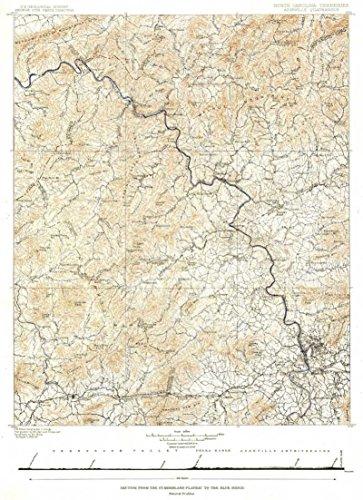 Reproduktion eines Poster Präsentation-USA-North Carolina, Tennessee (1889)-61x 81,3cm Poster Prints Online kaufen