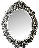 My Flair 109017 Ovaler Spiegel Mogallal, Barock mit Putten, Holz, antik-Silber, 40 x 5 x 53 cm
