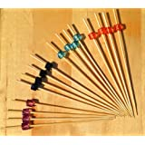 Gifts Of The Orient GOTO® - Diamantes Coloreados X 4 Coctel Palos De Madera Pinchos 12 Cm X 100