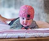 Strickset Baby - Babymütze stricken mit Eulen Motiv - DIY Set mit Schachenmayr Wolle Merino Extrafine 85 GRATIS Strickanleitung und Knöpfen für Eulenaugen - MyOma Strickpackung mit Merinowolle (Garn Nadelstärke 5 mm)