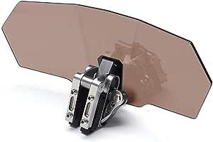 Alftek Universal Motorrad Windschutzscheibe Einstellbar Clip On Extension Spoiler Windschutzscheibe Auto