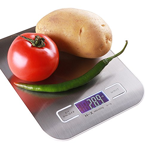 Digital Kitchen Scales 5000g 11lb Accurate 1 Gram Food Scales
