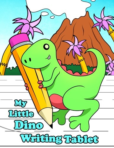 My Little Dino Writing Tablet: Primary Writing Notebook for Kids Learning to Write, 65 Sheets of Practice Paper, 1