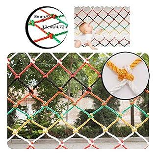 BHH Kindersicheres Netz, Farbe Kinderschutznetz Dekor Netz Klettern Hängematte Schaukelnetz Schiene Balkon Geländer Treppe Spielplatz LKW Ladung Anhänger Netz Outdoor Indoor (Size : 4x2m)