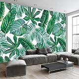 JING DIAN-Fototapete Modernes, Minimalistisches Tropischen Regenwald Banana Leaf Schrankbett Im Wohnzimmer Tv In Südostasien Hintergrundbild Wandmalereien. Schlafzimmer Wohnzimmer Esszimmer Wand Dekoration 180*120 Cm (B*H)