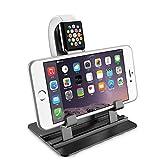 Watch Stand für Apple iWatch, verstellbare Aluminium Ladestation für Apple Watch Serie 1 / Serie 2 (42mm 38mm) Telefon Stand Halter Halter für iPhone 7 6 6S 5 SE 4S Samsung LG HTC Blackberry Etc