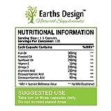 Earths Design Omega 3 Fischöl, 1000mg, Omega-3 Nahrungsergänzungsmittel, Hoch Potentes EPA DHA für Gehirn, Herz & Gelenke – 120 Kapseln - 2