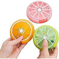 Pillendose Rund 7 Tage klein Medikamenten Vitamine Halter Transparent PP-Material Tablettendose Woche für Unterwegs preisvergleich bei billige-tabletten.eu