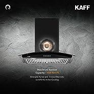 Kaff ACE BF 60 | Heavy Duty Baffle Filter| | Black Curved Tempered Glass | Matt Black Rust Free Coating | Soft