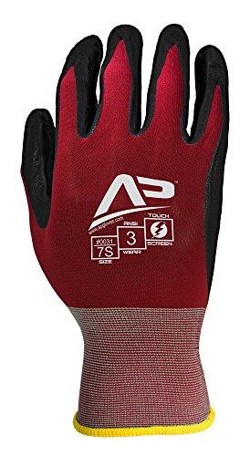 Black Thermal Power Supply (Apollo Performance Arbeitshandschuhe, Ultra Sheer Montage Multitask Handschuh mit glatte Nitril, 18Gauge Nylon-Knit, Touch-Fähigkeiten mit Lightning Touch Technologie, 1Paar, Maroon/Black, Medium, Maroon/Schwarz, 1)