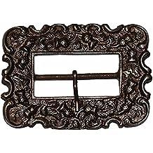 Hebilla Medieval, Hebilla con acabado en bronce, Hebilla para cinturón en bronce, Accesorios medievales para cinturón