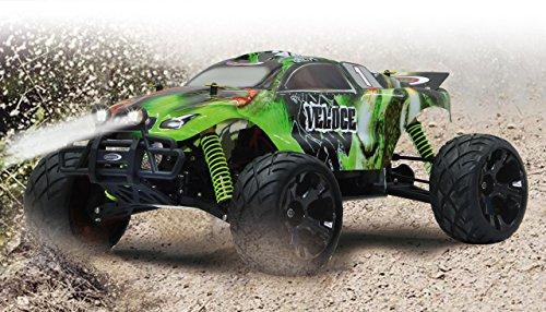 Veloce Monstertruck 1:10 4WD NiMh 2,4G LED - Allrad, Elektroantrieb, Akku, 35Kmh, Aluchassis, spritzwasserfest, Öldruckstoßdämpfer, Kugellager, Fahrwerk einstellbar, fahrfertig - 2