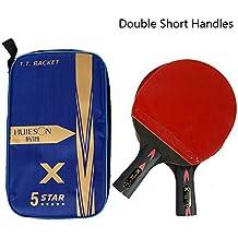 RONDA Pala Tenis De Mesa Huieson 2PCS 5 Estrellas Ligeras Y Potentes Baquetas De Ping Pong