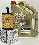 Pack Castrol EDGE TD 5W40 5 Liter Öl + Filter Original-VW/Audi/Seat TDi Motor(071 115 562 C)