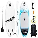 miweba Moana Stand Up Paddle Sup Surf Tabla hinchable 305 & 325 cm 15 cm paddling Remo con muchos accesorios Color: Cool Blue, Cool Blue