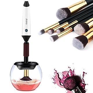 ARINO Automatisches Kosmetikpinsel Reinigungsgerät Elektronischer Pinselreiniger Makeup Brush Cleaner Machine Wiederaufladbares Trockner Gerät für Kosmetikpinksel mit USB Ladestation[New Version]