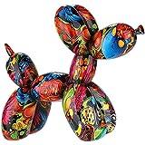 Dreamlight Scultura Moderna Figura Decorativa Cane Pug Pop Art Realizzata in Pietra Artificiale Multicolore 20x17 cm