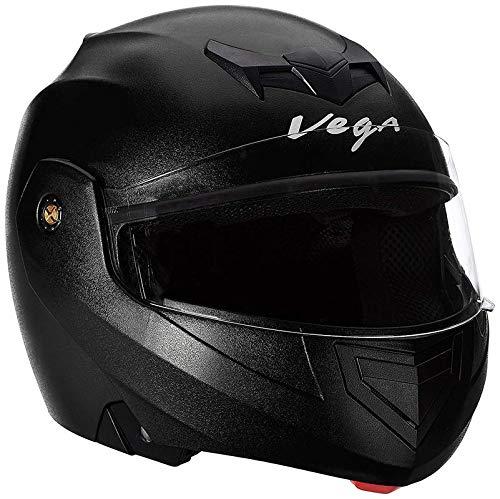 Vega Crux CRX-B-L Flip-up Helmet (Black, M)