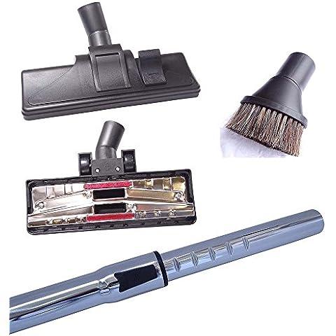 Cleanwizzard - Juego de tubo de 35 mm, cabezal para suelos duros y cepillo para aspiradora AEG CE 4123 TRIO Vampyr Pack de oferta sin bolsas de aspiradora