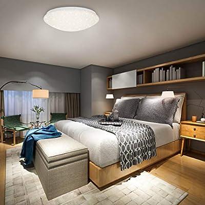 Briloner Leuchten - LED Deckenleuchte mit Fernbedienung, Deckenlampe Dimmbar, Farbtemperatursteuerung, Weiß, 2200 Lumen, 22 Watt, Durchmesser 39 cm